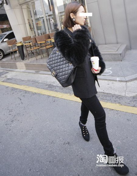 韩国MM雪天这样穿 美丽不惧寒冷