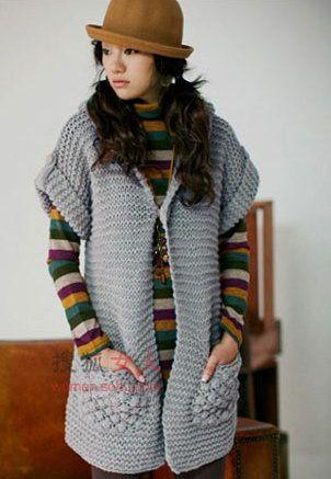 5款韩版针织长衫 80后美女入冬准搭配